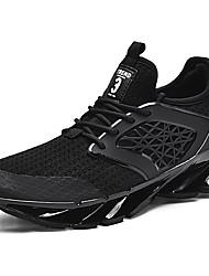 hesapli -Erkek Ayakkabı Örgü / Elastik Kumaş İlkbahar & Kış Sportif / Günlük Atletik Ayakkabılar Koşu Atletik / Günlük için Beyaz / Siyah