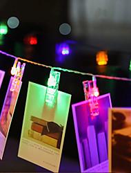Недорогие -BRELONG® 3M Гирлянды 20 светодиоды SMD 0603 Тёплый белый Водонепроницаемый / Творчество / Для вечеринок Аккумуляторы AA 1шт