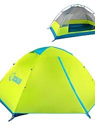 Недорогие -SCALER® 2 человека Туристические палатки На открытом воздухе Легкость С защитой от ветра Дожденепроницаемый Двухслойные зонты Карниза Палатка 1500-2000 mm для