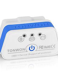 Недорогие -tonwon 2 ble4.0 elm327 obd2 диагностический сканер bluetooth4.0 проверить поддержку двигателя автомобиля все протоколы obdii для android