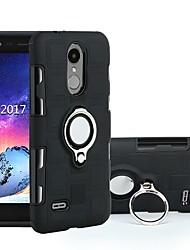 Недорогие -Кейс для Назначение LG LG K10 (2017) / LG K8 (2017) / Moto C plus Защита от удара / Кольца-держатели Кейс на заднюю панель броня Твердый ПК