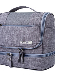 cfaf088247 Polyester Cosmetic Bag Zipper Gray   Purple   Sky Blue