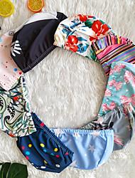 abordables -Femme Vacances Bonnet de bain Points Polka / Fleur / Pied-de-poule