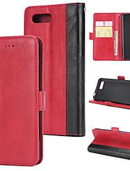 Недорогие -Кейс для Назначение Huawei Honor 10 Кошелек / Бумажник для карт / Флип Кейс на заднюю панель Однотонный Твердый Кожа PU для Huawei Honor 10