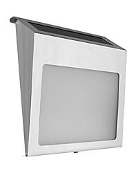 abordables -1pc solaire alimenté en acier inoxydable 2 leds plaque porte lampe numéro de maison