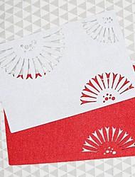 abordables -accueil multifonction créatif vert décoration artisanat ventilateur creux isolant en polyester pad antidérapant napperon anti-brûlure