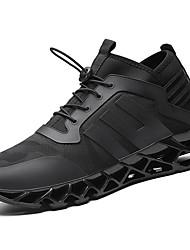 hesapli -Erkek Ayakkabı Örgü / Elastik Kumaş İlkbahar & Kış Sportif / Günlük Atletik Ayakkabılar Koşu Atletik / Günlük için Siyah