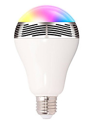 Недорогие -1 шт. Смарт-RGB лампы Bluetooth 4.0 аудио колонки с регулируемой яркостью E27 светодиодные беспроводные музыкальные лампы изменение цвета света через Wi-Fi приложение управления