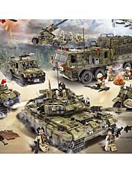 Недорогие -Конструкторы Фигурки из блоков Игрушечные наборы 256-1386 pcs Армия Танк Военные корабли совместимый Legoing моделирование Военная техника Танк Самолёт Все Мальчики Девочки Игрушки Подарок