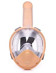 Недорогие -Дайвинг Маски / Маска для снорклинга Полнолицевые, подводный, 180 Градусов Единое окно - Плавание, Дайвинг, Для погружения с трубкой Полный силикон для тела - для Дети Зеленый / Розовый