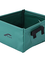 Недорогие -Походное складное ведро Корзина для белья 1 панель Легкость умывальник для ванной в комплекте Быстровысыхающий Другие материалы на открытом воздухе за Пешеходный туризм Походы Зеленый