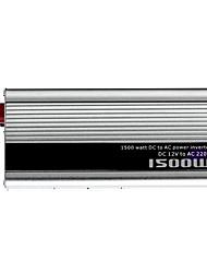 Недорогие -1500w DC 12V к AC 220V инвертор силы - серебро