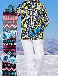 Недорогие -MARSNOW® Муж. Лыжная куртка и брюки Водонепроницаемость С защитой от ветра Теплый Отдых и Туризм Зимние виды спорта Терилен Наборы одежды Одежда для катания на лыжах / Зима