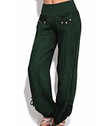 79df7ccd717c Női Alap Extra méret Napi Pamutszövet nadrág Nadrág - Egyszínű Szürke  Katonai zöld Khakizöld XXXL XXXXL XXXXXL
