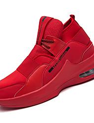 hesapli -Erkek Ayakkabı PU Kış Sportif Atletik Ayakkabılar Koşu Atletik için Beyaz / Siyah / Kırmzı / Zıt Renkli