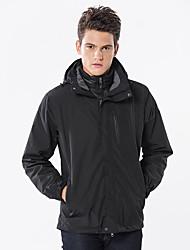 Недорогие -Муж. Куртка для туризма и прогулок на открытом воздухе Осень Весна Зима С защитой от ветра Дожденепроницаемый Воздухопроницаемость Мягкость Чинлон Куртки 3-в-1 Верхняя часть Односторонняя