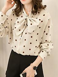 olcso -női ázsiai méretű vékony blúz - tömör színű, kerek nyak