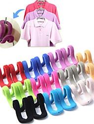 Недорогие -5 шт. / Лот многофункциональный стекаются мини-волшебные подвесные крючки для вешалка для одежды строки путешествия организатор одежды