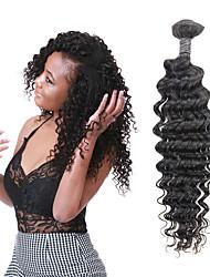 billige -1 Bundle Brasiliansk hår Dyb Bølge Remy Menneskehår Hårforlængelse af menneskehår 8-26 inch Naturlig Menneskehår Vævninger Bedste kvalitet Ny ankomst Hot Salg Menneskehår Extensions Dame