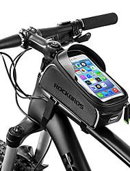 Недорогие -ROCKBROS Сотовый телефон сумка / Бардачок на раму 6 дюймовый Водонепроницаемость Велоспорт для Велосипедный спорт / Все Сотовый телефон / iPhone X Черный