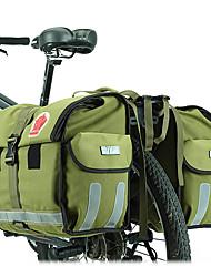 Недорогие -ROSWHEEL 45 L Сумка на багажник велосипеда / Сумка на бока багажника велосипеда Регулируется Большая вместимость Водонепроницаемость Велосумка/бардачок холст Водонепроницаемый материал
