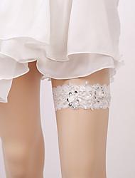 ราคาถูก -ลูกไม้ เกี่ยวกับเจ้าสาว Wedding Garter กับ มุก / ปักเลื่อม สายรัด งานแต่งงาน / ปาร์ตี้