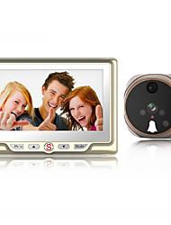 Недорогие -Factory OEM Проводное Встроенный из спикера 4.3 дюймовый Гарнитура Один к одному видео домофона
