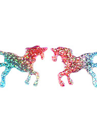 hesapli -1 çift Kadın's Fantezi Vidali Küpeler - At Avrupa moda Mücevher Gökküşağı Uyumluluk Randevu Cadde