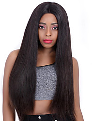 お買い得  -レミーヘア人毛 360フロンタル フロントレース かつら ブラジリアンヘア ストレート かつら 130% 150% 毛の密度 女性用 人毛レースウィッグ 人毛エクステンション