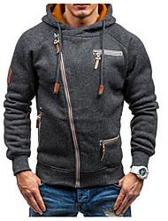 hesapli -uzun kollu erkek hoodie - renk bloğu kapüşonlu açık gri m