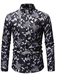 Недорогие -Муж. Рубашка Классический Графика