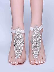 ราคาถูก -POLY Rhinestone / สายคล้องข้อเท้า Wedding Garter กับ คริสตัล / พลอยเทียมต่างๆ แหวนนิ้วเท้า งานแต่งงาน / ปาร์ตี้