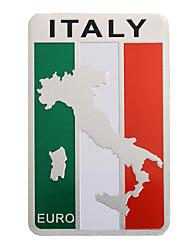 Недорогие -пара 8x5 см алюминий италия флаг карта значок автомобиля стикер эмблема наклейка украшения