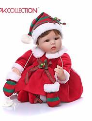 Недорогие -NPKCOLLECTION NPK DOLL Куклы реборн Кукла для девочек Девочки 18 дюймовый Подарок Очаровательный Искусственная имплантация Коричневые глаза Детские Девочки Игрушки Подарок