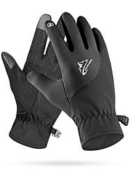 Недорогие -зимние теплые термостойкие ветрозащитные водонепроницаемые велосипедные перчатки с сенсорным экраном
