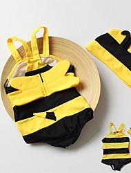 abordables -Niños Chica Deportes Un Color Algodón / Poliéster Bañador Amarillo