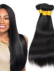 cheap -3 Bundles Indian Hair Silky Straight Virgin Human Hair Hair Accessory Bundle Hair Human Hair Extensions 10-26 inch Natural Color Human Hair Weaves Woven Natural New Arrival Human Hair Extensions