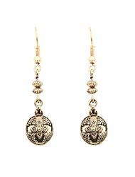 hesapli -Kadın's Retro Damla Küpeler - Yonca Vintage Mücevher Altın Uyumluluk Parti Yıldönümü / 1 çift