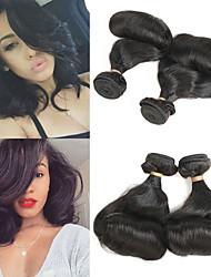 billige -2 pakker Brasiliansk hår Krøllet Bølget Remy Menneskehår Hairextensions med menneskehår 10-28 tommers Hårvever med menneskehår Myk Beste kvalitet Ny ankomst Hairextensions med menneskehår Dame