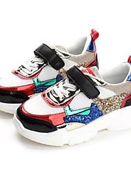 baratos -Para Meninos / Para Meninas Sapatos Couro Ecológico Primavera & Outono Conforto Tênis Caminhada Velcro para Infantil / Adolescente Vermelho / Azul