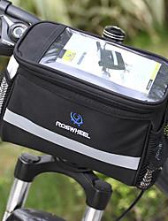 Недорогие -ROSWHEEL 4.5 L Бардачок на руль Влагонепроницаемый, Пригодно для носки, Ударопрочность Велосумка/бардачок ПВХ / 600D полиэстер Велосумка/бардачок Велосумка Samsung Galaxy S6 / iPhone 4/4S / LG G3