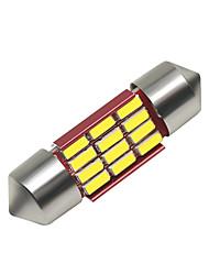 Недорогие -SO.K 4шт 31mm Автомобиль Лампы 3 W SMD 4014 250 lm 12 Светодиодная лампа Внутреннее освещение Назначение Универсальный Все года