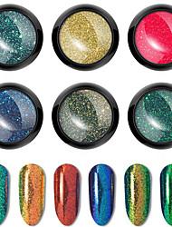 voordelige -1 pcs Schitteren Beste kwaliteit / Slim ontwerp Mini Mode Nagel kunst Manicure pedicure Dagelijks / Familiebijeenkomst Stijlvol / Kleurrijk