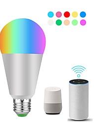 Недорогие -KWB 1шт 10 W 900 lm E26 / E27 Умная LED лампа ST19 22 Светодиодные бусины SMD 5730 Smart / Контроль APP / синхронизация RGBW 100-240 V