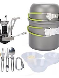 Недорогие -ARDI® Набор походной посуды Походная кастрюля Столовые наборы Полки для посуды и аксессуары принадлежность Легкость за 1 - 2 человека Нержавеющая сталь Алюминиевый сплав на открытом воздухе
