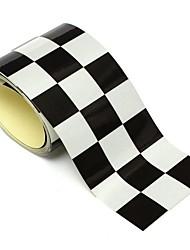 Недорогие -3-дюймовый черный белый клетчатый флаг виниловая наклейка лента мотоцикл мотоцикл мотоцикл стикер