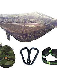 お買い得  -キャンプ用蚊帳付きハンモック アウトドア ライトウェイト, 速乾性, 通気性 ナイロン, メッシュ生地 のために 釣り / キャンピング - 1人 アーミーグリーン