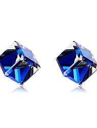 cheap -Women's Blue Crystal Classic Stud Earrings Earrings Stylish Simple Fashion Jewelry Blue For Daily Formal 19pcs / 2pcs