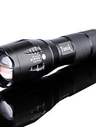 abordables -Lampes Torches LED LED LED Émetteurs 3000 lm 5 Mode d'Eclairage avec Pile et Chargeur Fonction Zoom, Imperméable, Faisceau Ajustable Camping / Randonnée / Spéléologie, Usage quotidien, Cyclisme Noir