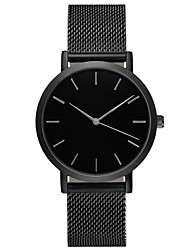 Недорогие -Geneva Муж. Спортивные часы Наручные часы Кварцевый Нержавеющая сталь Черный / Серебристый металл / Золотистый 30 m Защита от влаги Повседневные часы Крупный циферблат Аналоговый На каждый день Мода